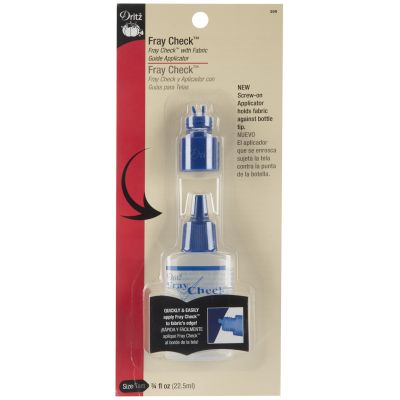 Dritz Fray Check W/Fabric Guide Applicator Tip .75Oz - 399