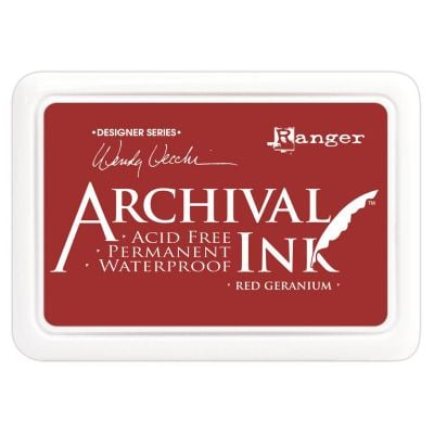 Wendy Vecchi Archival Ink Pad Red Geranium - AID-38993