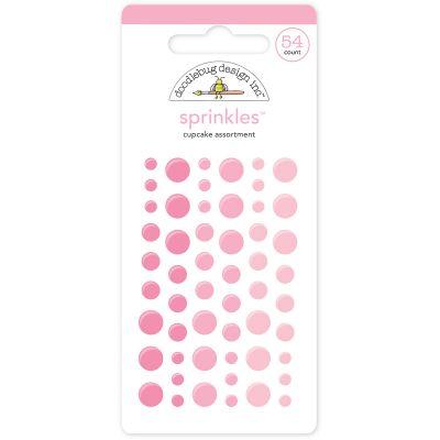 Doodlebug Sprinkles Adhesive Glossy Enamel Dots Cupcake, 54/Pkg - MONOS-4004