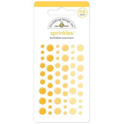Doodlebug Sprinkles Adhesive Glossy Enamel Dots Bumblebee, 54/Pkg - MONOS-4008
