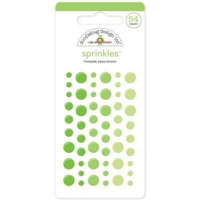 Doodlebug Sprinkles Adhesive Glossy Enamel Dots Limeade, 54/Pkg - MONOS-4009