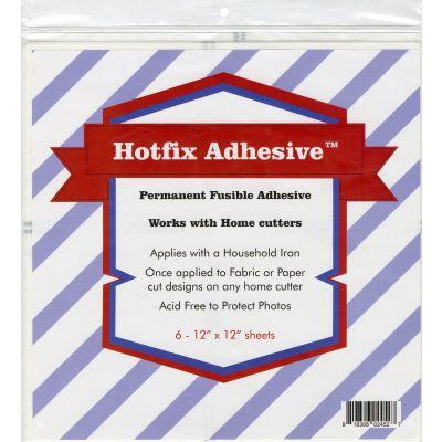 Hotfix Permanent Fusible Adhesive Sheets 6/Pcs 12