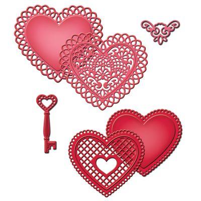 Spellbinders Shapeabilities Dies Lace Hearts - S5204