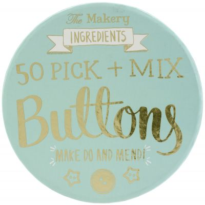 The Makery Pick & Mix Buttons 50/Pkg Assorted Styles, Sizes & Shapes - MAKE003