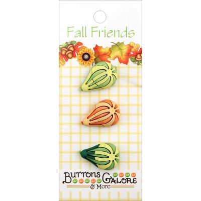 Buttons Galore Fall Buttons 3/Pkg Gourds - FA3-126