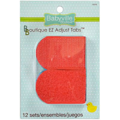 Babyville Boutique Die Cut Ez Tabs 12/Sets Black, Red, Brown, Green, Blue, Dk. Blue - 350TAB-35255