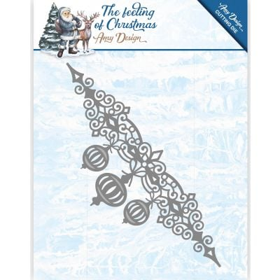 Find It Trading Amy Design The Feeling Of Christmas Die Christmas Balls Border - ADD10112