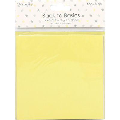Dovecraft Back To Basics Cards W/Envelopes 6
