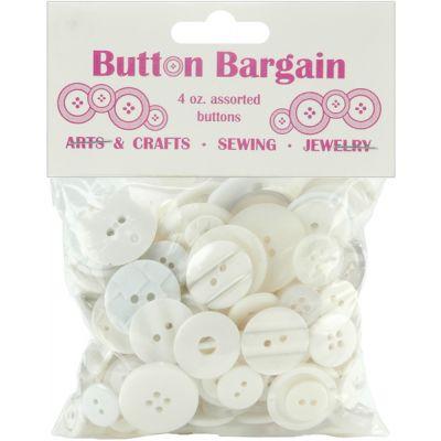 Blumenthal Button Bargain 4Oz Whites - 20002