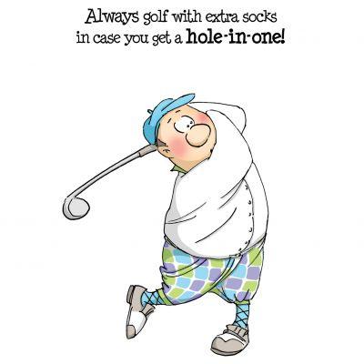 Art Impressions People Cling Rubber Stamps Gordon Golfer Set - 4325