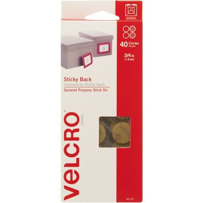 VELCRO(R) Brand Sticky Back Coins .75