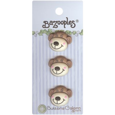Buttons Galore Bazooples Buttons Max The Monkey - BZ-124