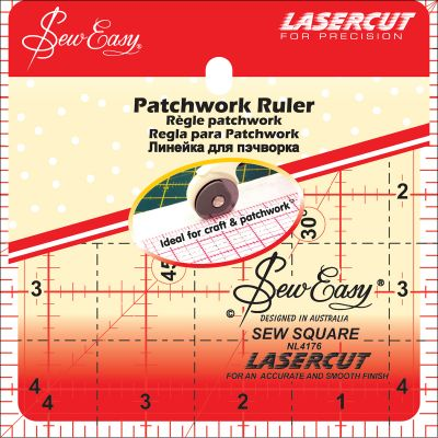 Tacony Seweasy Square Quilt Ruler 4.5
