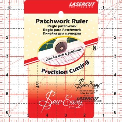 Tacony Seweasy Square Quilt Ruler 6.5