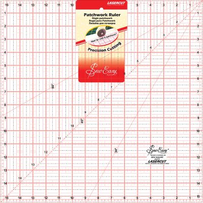 Tacony Seweasy Square Quilt Ruler 15.5