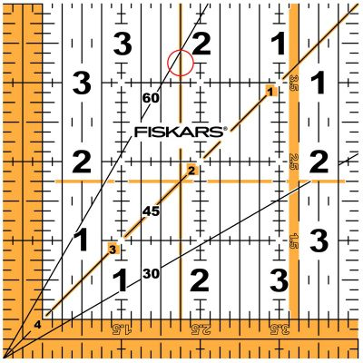 Fiskars Square Acrylic Ruler 4 1/2