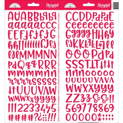 Abigail Font Cardstock Alpha Stickers 6