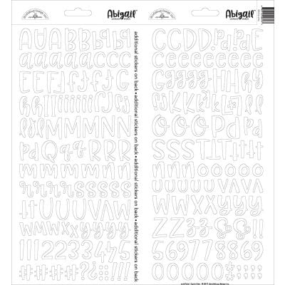 Abigail Font Cardstock Alpha Stickers 6