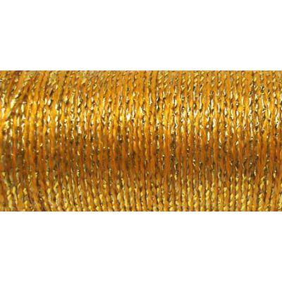 Kreinik Fine Metallic Braid #8 11Yd Golden Chardonnay - F-5815