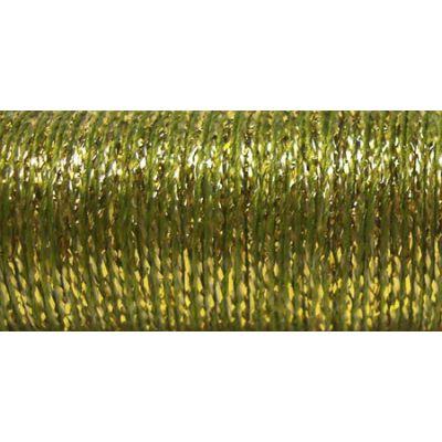 Kreinik Fine Metallic Braid #8 11Yd Golden Olive - F-5835