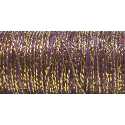 Kreinik Fine Metallic Braid #8 11Yd Golden Cabernet - F-5845