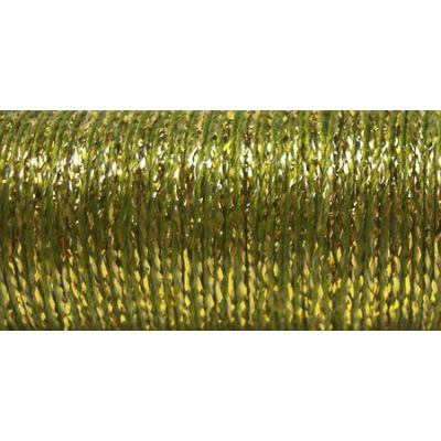 Kreinik Metallic Tapestry Braid #12 11Yd Golden Olive - T-5835