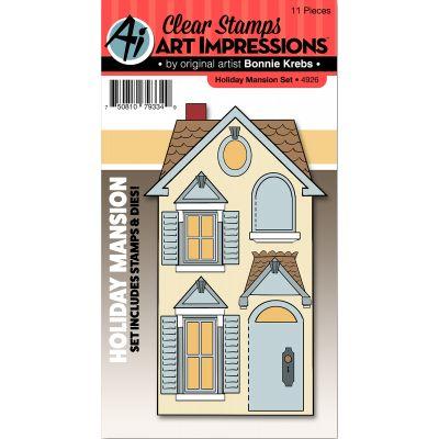 Art Impressions Stamp & Die Set Holiday Mansion - 4926