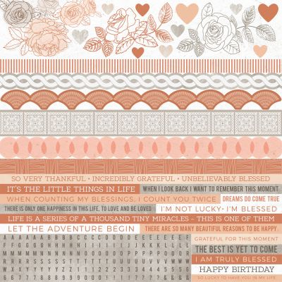 Peachy Cardstock Stickers 12