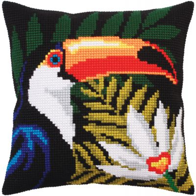 Collection D'Art Stamped Needlepoint Cushion Kit 40X40Cm Night Jungle Iv - CD5302