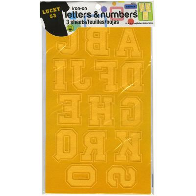 Dritz Iron On Letters & Numbers Soft Flock 1.75