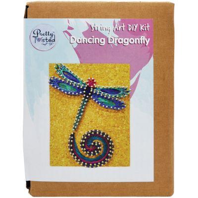 Pretty Twisted String Art Diy Kit Dancing Dragonfly - PTSA-DDR