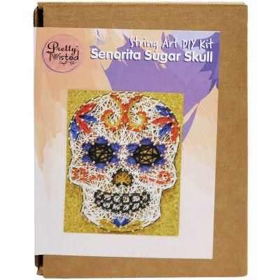 Pretty Twisted String Art Diy Kit Senorita Sugar Skull - PTSA-SSS
