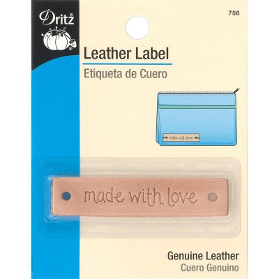 Dritz Leather Label Made With Love Rectangle - 756