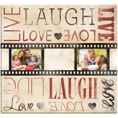 Mbi Live Laugh Love Film Strip Post Bound Album 12