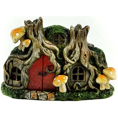 Fairy Garden LED Tree Stump House-6.25