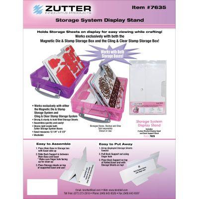 Zutter Magnetic Die & Stamp Sheet Easel Holder Display Stand  - 7635