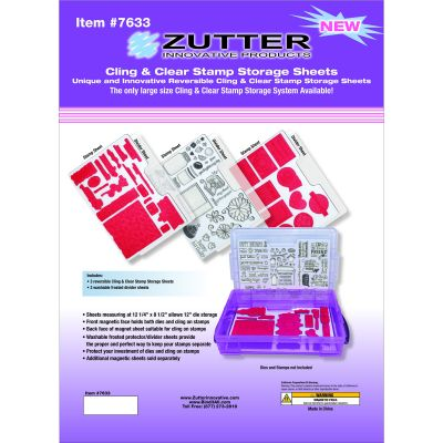 Zutter Cling & Clear Stamp Storage System Refills 12.25