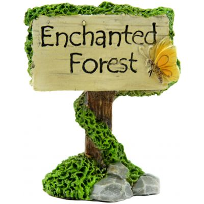 Fairy Garden Enchanted Forest Sign-2.5