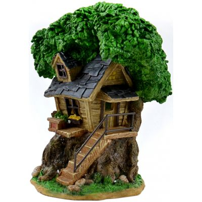 Fairy Garden Solar Tree House-8