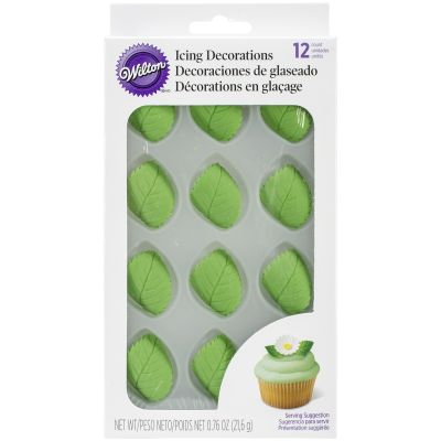Icing Decorations 12/Pkg Leaves - W101495