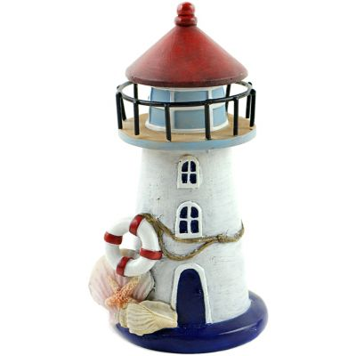Fairy Garden Nautical Lighthouse W/Seashells-6