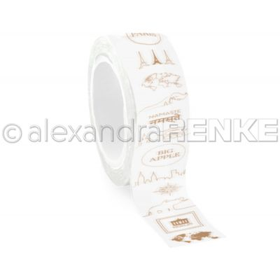 Alexandra Renke Travel Washi Tape 40Mmx10M Travel - WTART001