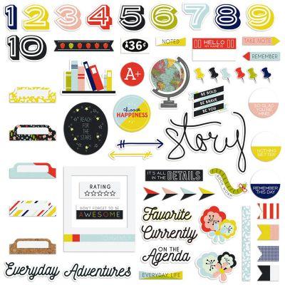 Take Note Ephemera Cardstock Die Cuts Numbers, Words, & Symbols - TN2871