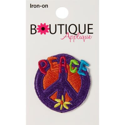 Blumenthal Iron On Appliques Peace Sign - A01300A-247