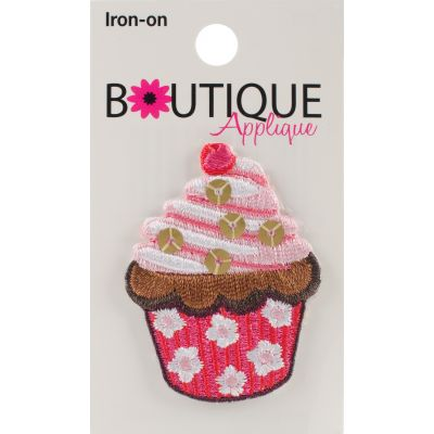 Blumenthal Iron On Appliques Cupcake W/Beads 1/Pkg - A01300A-253