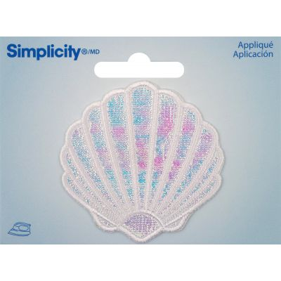 Wrights Iron On Applique Clam Shell - 193 5028