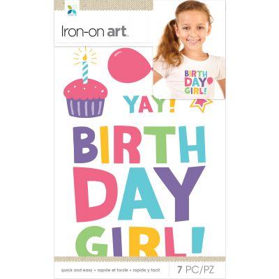 Momenta Iron On Applique Birthday Girl 7Pcs - MIO34239