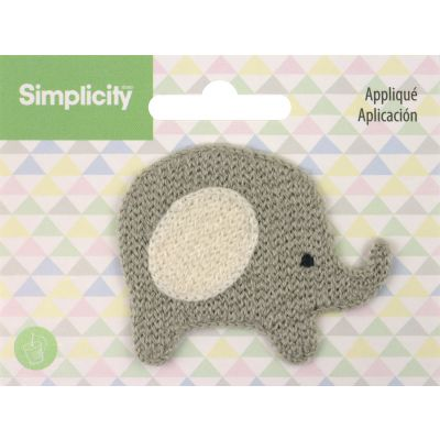 Wrights Baby Sew On Applique Elephant - 193 9260