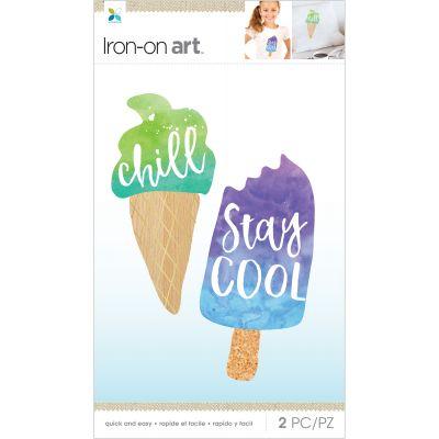 Momenta Iron On Applique Chill, Stay Cool 2Pcs - MIO32793
