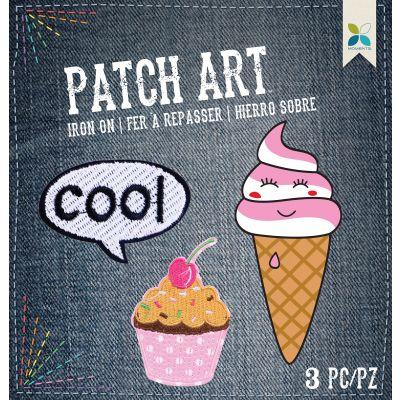 Momenta Iron On Embroidered Applique Cool, Cupcake & Ice Cream 3/Pkg - MIO33025